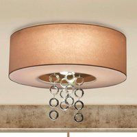 Icarus   ceiling light with lead crystal rings
