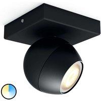 Philips Hue Buckram LED spot in black  extension