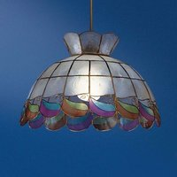 Molly pendant light made of mother of pearl