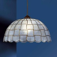 AMELIA pendant light with mother of pearl  natural