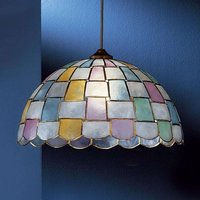 AMELIA pendant light with mother of pearl coloured