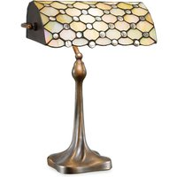 Glossy mother of pearl Sezilia table lamp