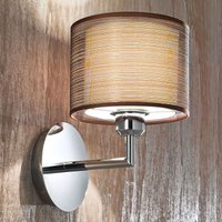Bonnie wall light with fabric lampshade