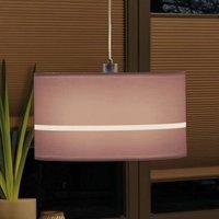 Paulmann Tessa lampshade striped 45 cm dark brown