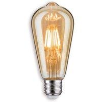 E27 7 5W LED rustic bulb in gold