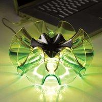 Flamenca designer LED table lamp in green