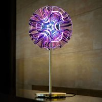 Coral designer table lamp with LED  violet
