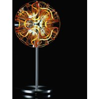 Coral designer table lamp with LED  orange