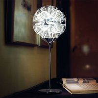 Coral designer table lamp with LED reading light