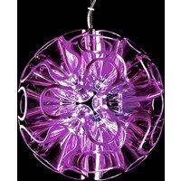 Spherical LED hanging light Coral  violet