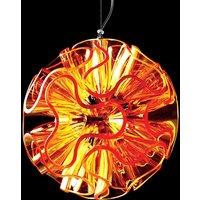 Spherical LED hanging light Coral  orange