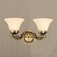 Wall light Leonardo with two glass lampshades