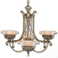 4 bulb chandelier Evita with an antique touch