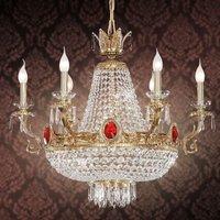 11 bulb crystal chandelier  gata