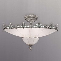 Silver decorated ceiling light Stephanie