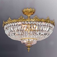 Brass coloured ceiling light Stephanie w crystals