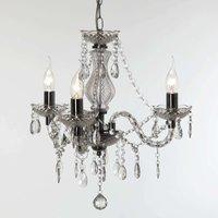 Transparent Perdita chandelier  three light