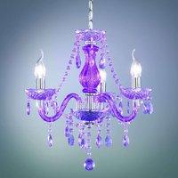 Purple Perdita chandelier