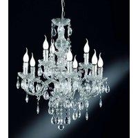 Perdita chandelier with chrome look