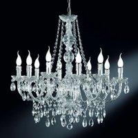 Perdita   chrome chandelier  10 light