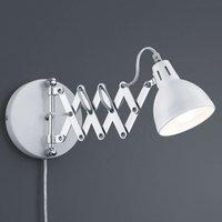 With matt white lampshade   wall light Scissor