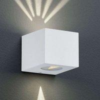 Angular LED outdoor wall light Cordoba  white