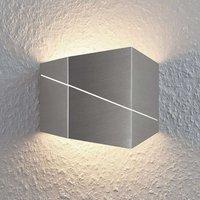 Nikolae LED wall light 18 cm  matt nickel