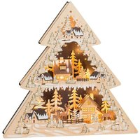 Candle arch triangle Winter Village LED