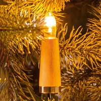 Fluted candle string lights  20 bulb  light beech