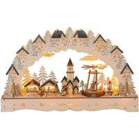 Christmas Market LED candle arch rotating pyramid