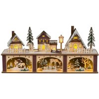 Winter Town LED candle arch  illuminated base