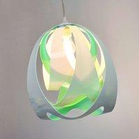 Modern GOCCIA DI LUCE hanging light  blue green