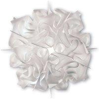 Playfully designed VELI wall light  white