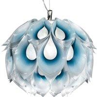 Playful Flora M hanging light  blue
