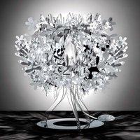 Silver Fiorellina designer table lamp