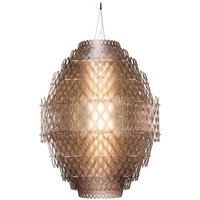 Charlotte   designer LED pendant lamp orange brown