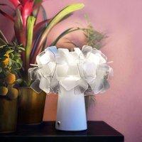 Slamp Clizia LED table lamp  battery  smoky
