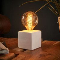 Refined table lamp Helsinki  white