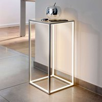 Illuminated side table Delux 60 cm high