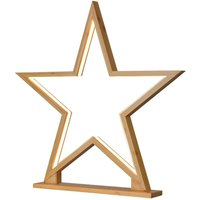 Star decorative light Lucywood bamboo height 51 cm