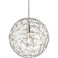 Small pendant light Cage made of metal