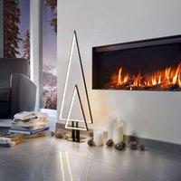 Pine LED decorative light black 100 cm