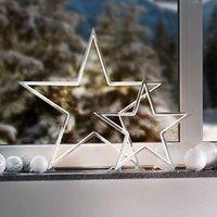 Chrome coloured decorative star light Lucy  33 cm