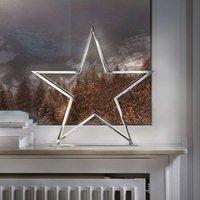 Decorative star light Lucy  chrome  50 cm high