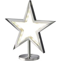 LED star Lucy standing chrome