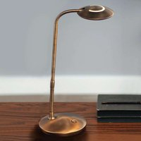 With dimmer   LED table lamp Zenith bronze