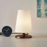 Ancilla   table lamp with bronze touch dimmer