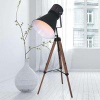 Three legged floor lamp Hoody  wood and metal