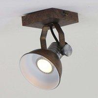 LED wall spotlight Brooklyn one bulb brown