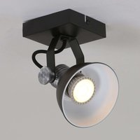 LED wall spotlight Brooklyn one bulb black